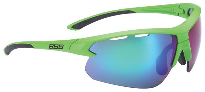 Очки солнцезащитные велосипедные BBB 2018 Impulse PC Smoke MLC Lenses, цвет: зеленый, черный