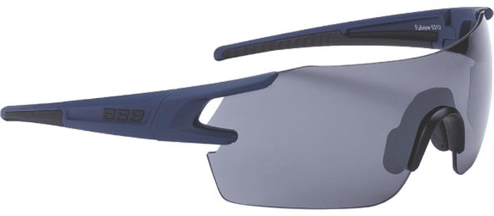 """Очки солнцезащитные велосипедные BBB """"2018 FullView PC Smoke Flash Mirror Lens"""", цвет: синий, черный"""