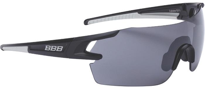 """Очки солнцезащитные велосипедные BBB """"2018 FullView PC Smoke Flash Mirror Lens"""", цвет: черный, металл"""