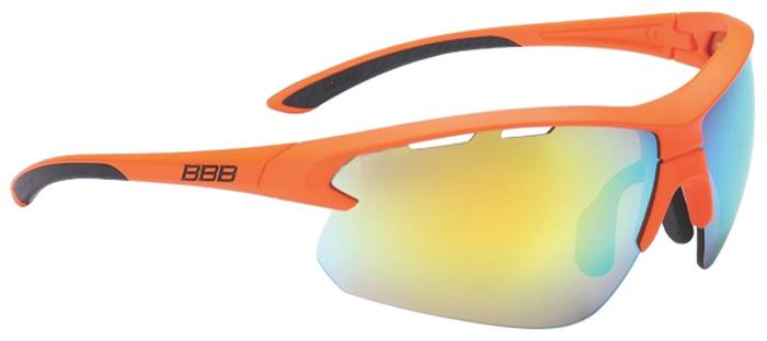 Очки солнцезащитные велосипедные BBB 2018 Impulse PC Smoke MLC Lenses, цвет: оранжевый, черный