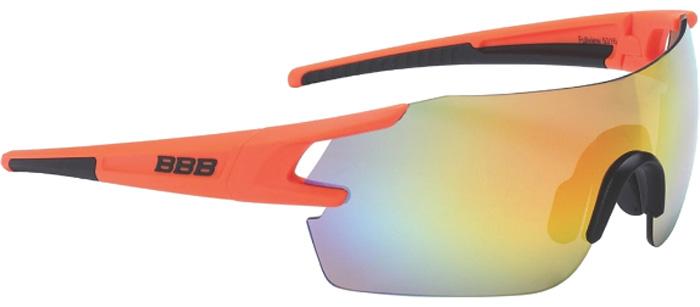 """Очки солнцезащитные велосипедные BBB """"2018 FullView PC Smoke MLC Lens"""", цвет: оранжевый, черный"""