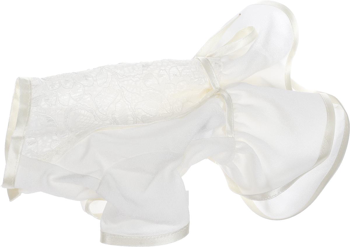 Платье для собак GLG LOVE, цвет: бежевый. Размер S дождевик прогулочный для собак glg цветок цвет темно синий размер l
