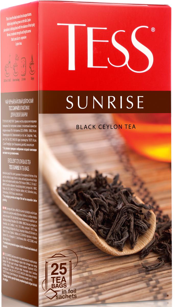 Tess Sunrise черный чай в пакетиках, 25 шт цена