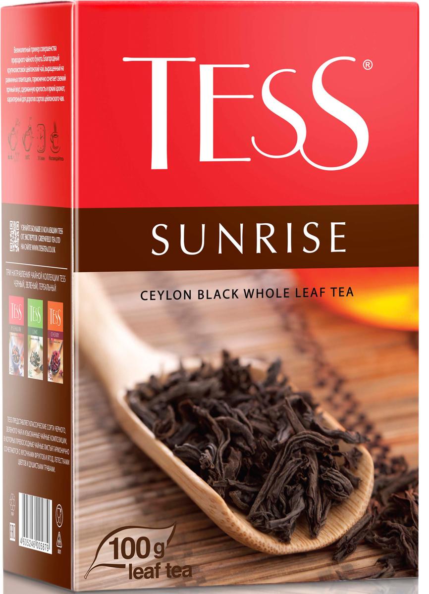 Tess Sunrise черный листовой чай, 100 г0587-15Черный байховый цейлонский чай Tess Sunrise отличается необыкновенно насыщенным ярким вкусом и тонким, очень приятным ароматом, свойственным цейлонским чаям. Всё о чае: сорта, факты, советы по выбору и употреблению. Статья OZON Гид