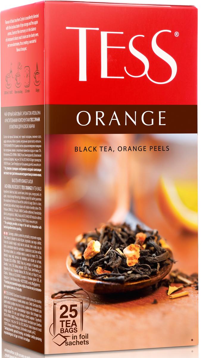 Tess Orange черный чай в пакетиках, 25 шт цена