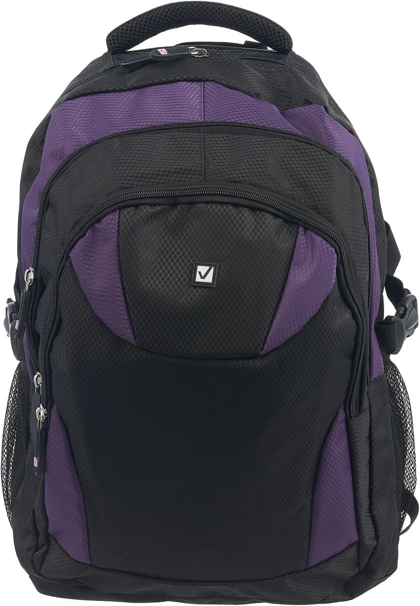 лучшая цена Brauberg Рюкзак Пинк цвет черный фиолетовый
