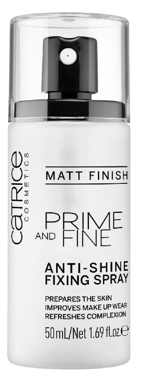 CatriceФиксирующийспрейдлямакияжа Prime And Fine Anti-Shine Fixing Spray, цвет: прозрачный спрей праймер с кокосовой водой essence prime and studio hd hydra primer spray