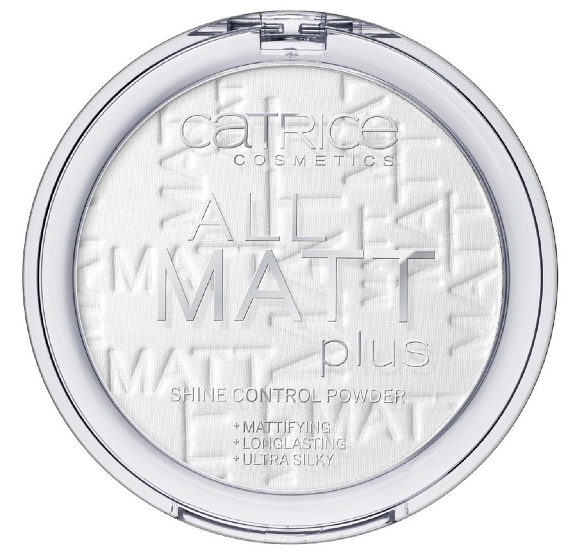 CatriceПудра компактная All Matt Plus Shine Control Powder 001, цвет: прозрачный компактная пудра isa dora anti shine матирующая тон 31 цвет матовый бежевый 10 г