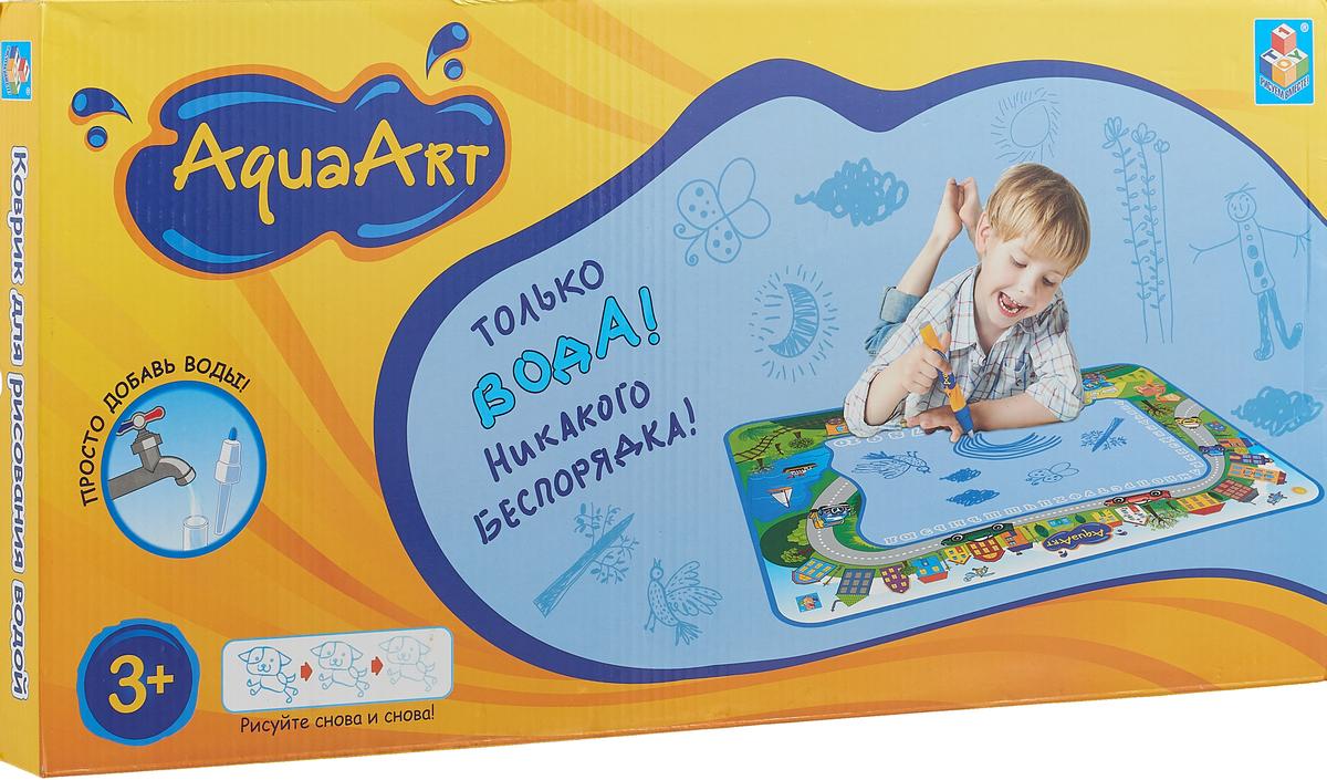 1TOY Коврик для рисования AquaArt с водным маркером Т59440