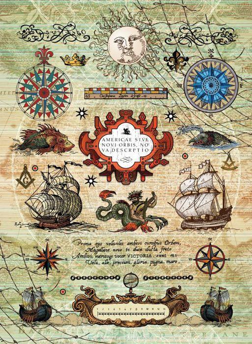 Рисовая бумага для декупажа Craft Premier Морское путешествие, формат А3 рисовая бумага для декупажа craft premier шебби розы a3