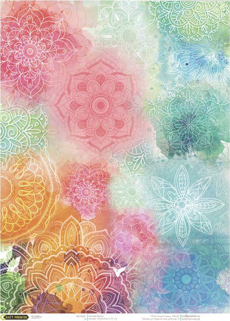 Рисовая бумага для декупажа Craft Premier Этник, формат А3 рисовая бумага для декупажа craft premier шебби розы a3