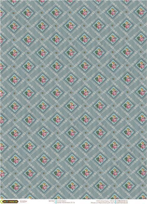 Рисовая бумага для декупажа Craft Premier Обои, формат А3 рисовая бумага для декупажа craft premier шебби розы a3
