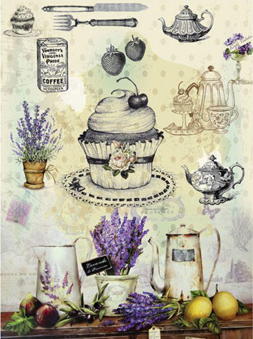 Рисовая бумага для декупажа Cadence - Craft Premier Прованс. Кухня, формат А3 рисовая бумага для декупажа craft premier шебби розы a3