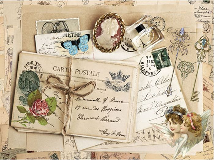 Рисовая бумага для декупажа Cadence - Craft Premier Любимые письма, формат А3 рисовая бумага для декупажа craft premier шебби розы a3