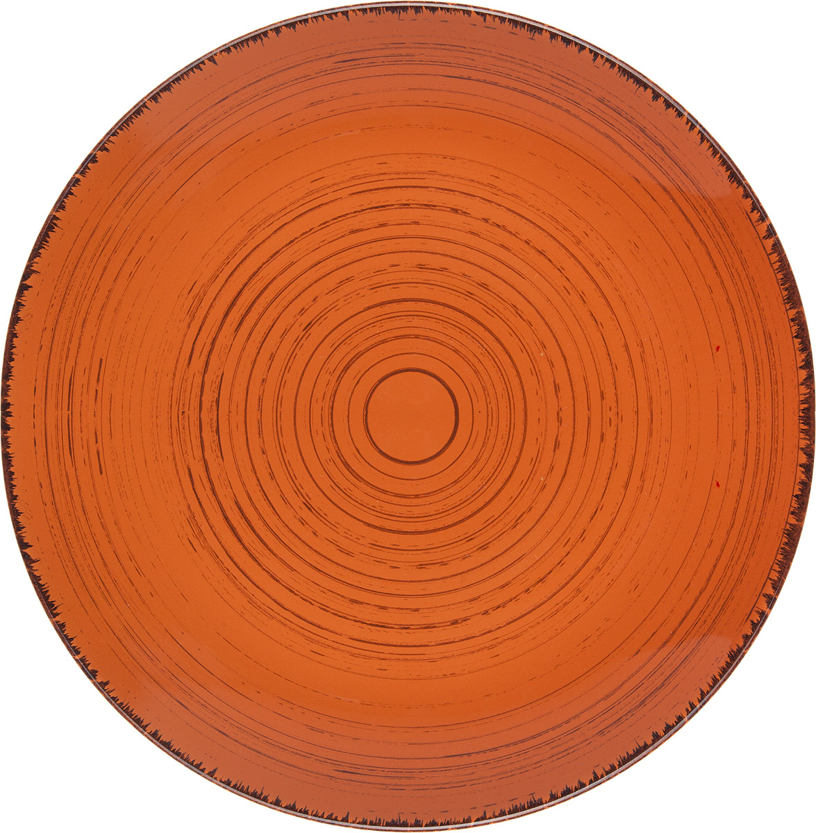 Тарелка Gotoff , цвет: оранжевый, диаметр 26,5 см тарелка глубокая gotoff цвет фисташковый диаметр 18 5 см