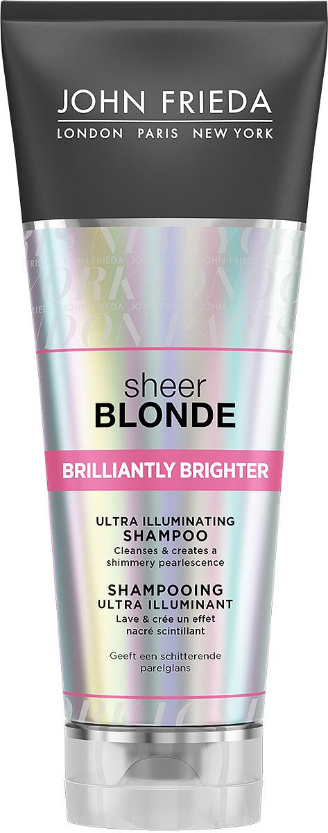 John Frieda Sheer Blonde Brilliantly Brighter Шампунь для придания блеска светлым волосам, 250 мл шампунь секрет