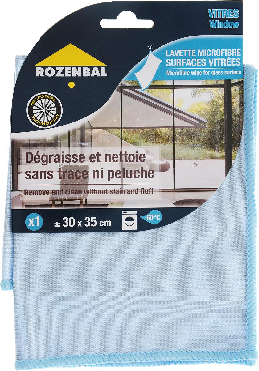 Салфетка Rozenbal, для стекла и зеркал, микрофибра. R212762 цена