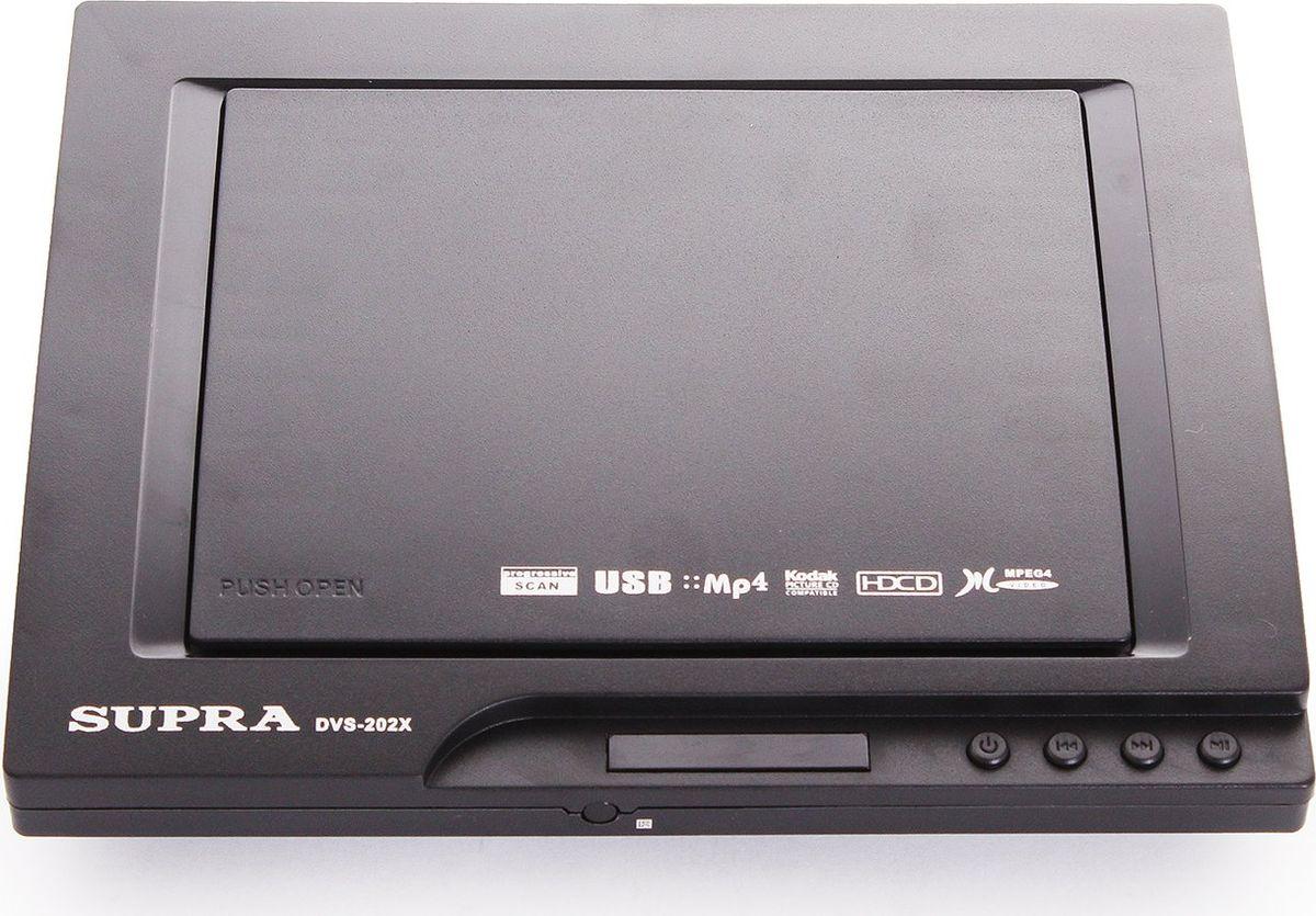 DVD плеер Supra DVS-202X, Black dvd плеер supra dvs 302x черный
