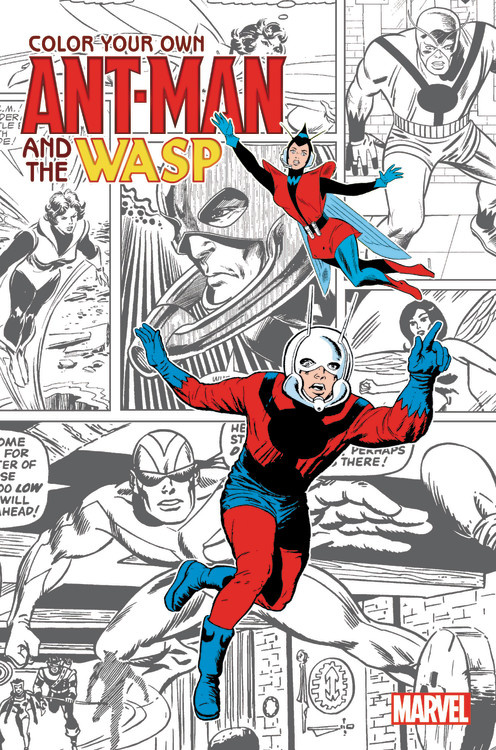 Color Your Own Ant-Man and the Wasp banks i the wasp factory