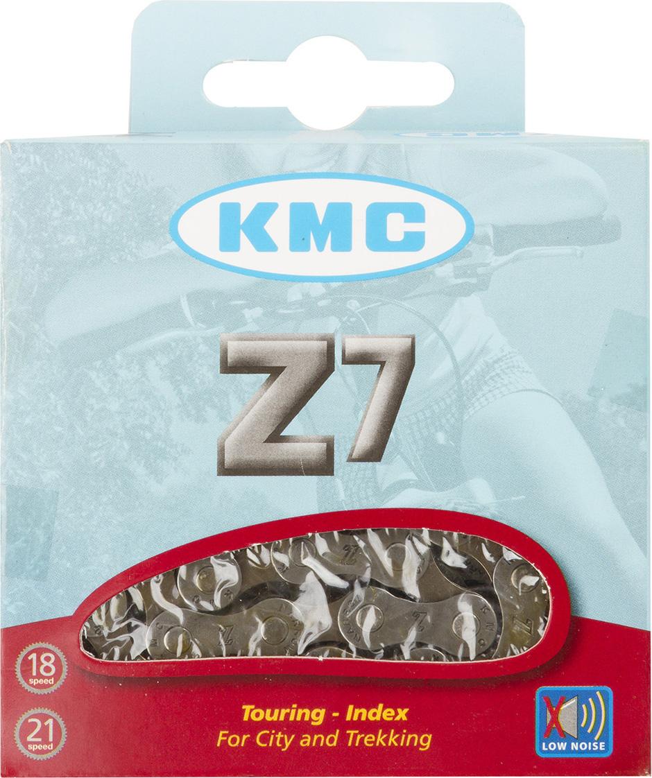 Цепь велосипедная КМС Z7 (Z50), 6/7 (18-21) скоростей,116 звеньев, 1/2x3/32, 7,3 мм, серо-коричневый цепь велосипедная кмс z 51 rb 7 1 мм 1 2x3 32 116 звеньев для alivio acera altus silver с замком