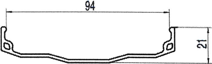 Обод 26 для FatBike, 559х102/96х18мм, алюминий, на 32 спицы, одинарный, облегченный, черный
