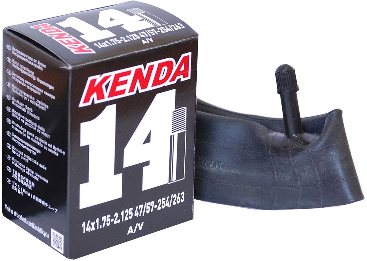 Велокамера Kenda 14x1.75-2.125 a/v велокамера kenda 26 x3 00 для downhill a v