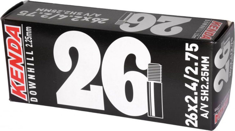 Камера 26x2.4-2.75, Downhill, стенка 2, 25 мм, a/v