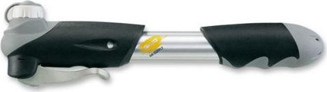 """Насос для велосипеда Giyo GP21, телескопический двухходовой, алюминиевый , с манометром, вентиль авто/вело велосипедный насос giyo телескопический универсальный 2 х сторонний внутренний вентиль """"вело авто цвет черный gp47e"""
