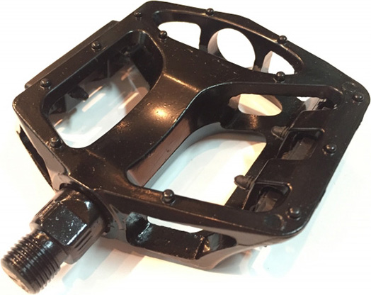 Педали Heng Feng MTB/BMX HF-872, алюминиевые, ось 9/16 дюйма, 113x115 мм, красный, 2 шт