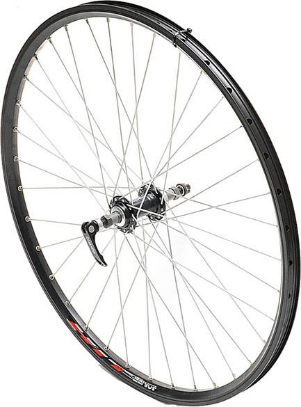 Комплект колес Remerx 26, HIT, 559x19, обод двойной, 32 спицы, под эксцентрик, заднее под кассету