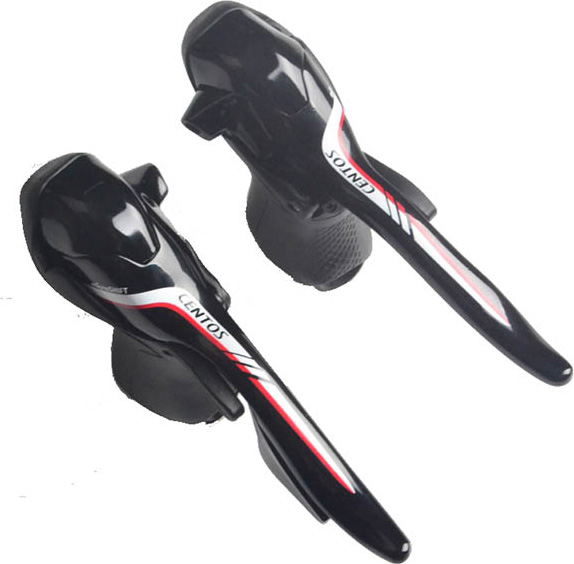 Шифтер/тормозная ручка Microshift Centos SB-R402E, 2x10ск, черный, аналог 105