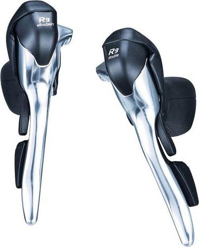 Шифтер/тормозная ручка Microshift R9 SB-R492, 2x9ск, серебристый, аналог Tiagra, Sora