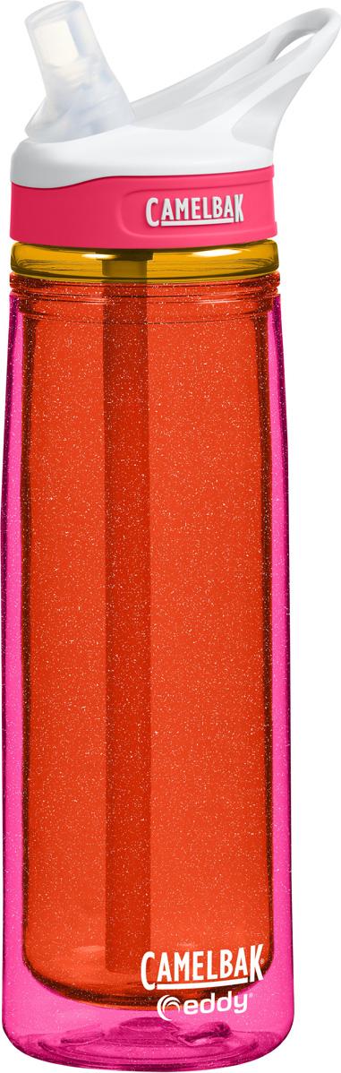 Термобутылка Camelbak Eddy, цвет: оранжевый, розовый, 600 мл. 1280602060 цена