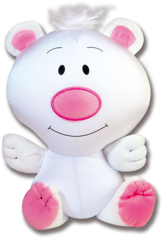 Игрушка антистресс Штучки к которым тянутся ручки Медведь Кнопик белый игрушка антистресс штучки к которым тянутся ручки лиса открытка в ассортименте 18асо03ив