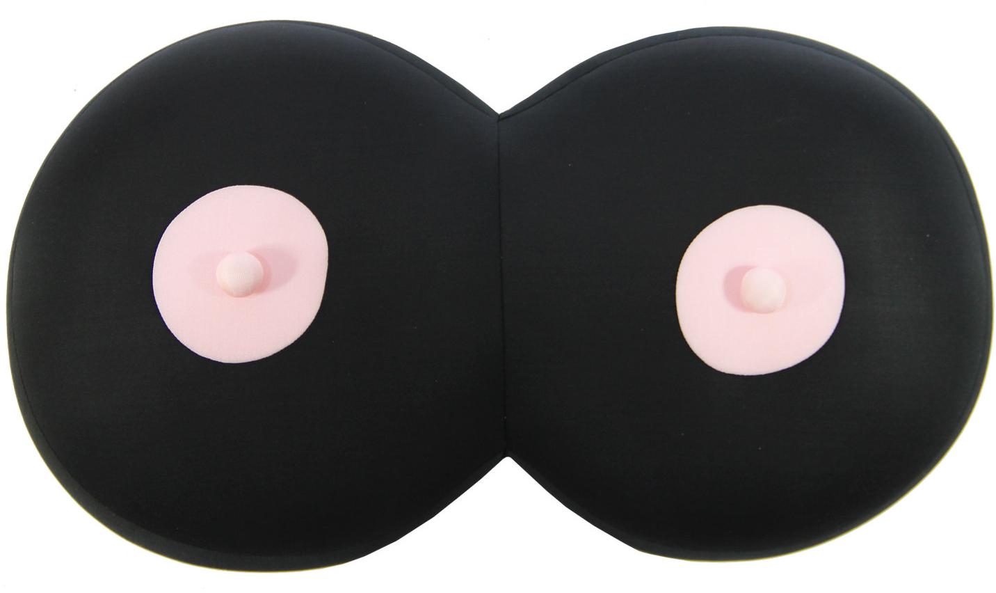 Штучки, к которым тянутся ручки Подушка-игрушка антистрессовая Бюст цвет черный