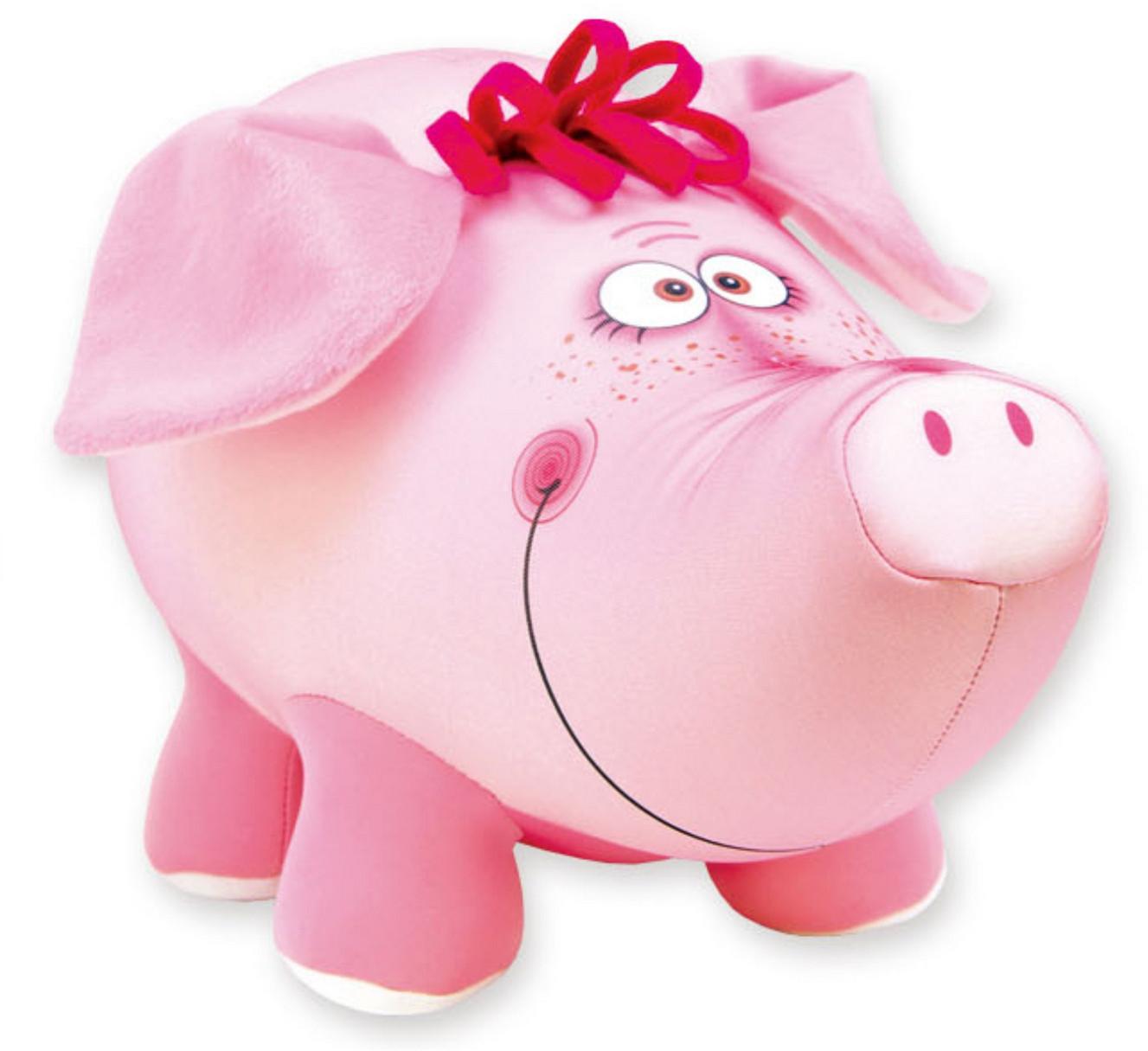 Подушка-игрушка антистрессовая Хрюша Хавронья, розовый