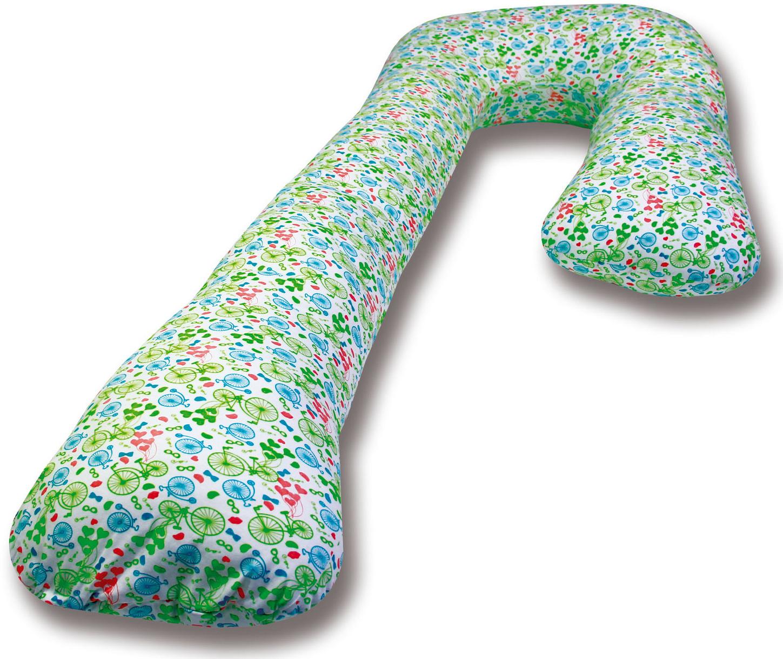Штучки, к которым тянутся ручки Подушка для кормящих и беременных Велосипеды Г-образная цвет белый