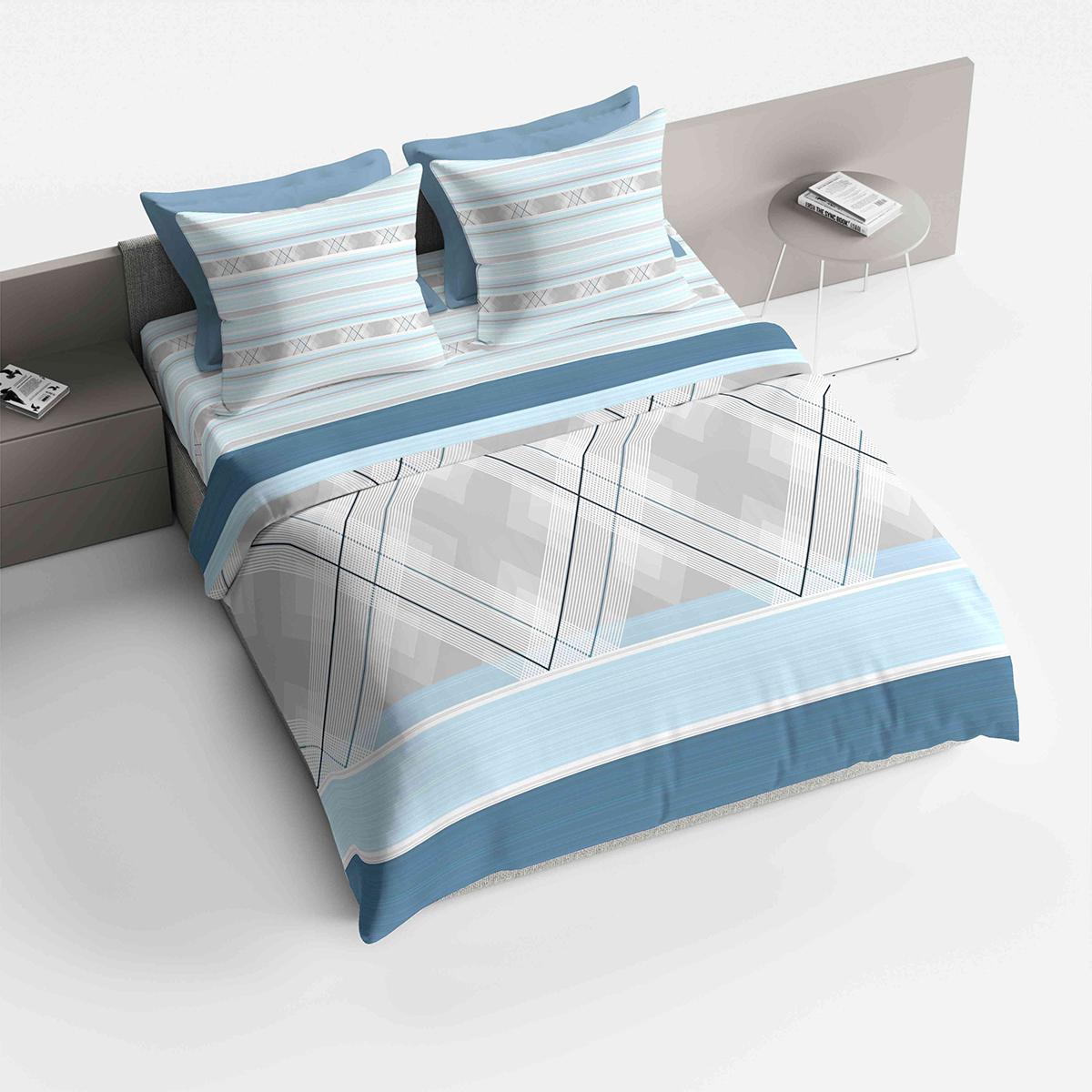 Фото - Комплект белья Браво Лоренцо, 2-спальный, наволочки 70х70, цвет: голубой постельное белье этель кружева комплект 2 спальный поплин 2670978
