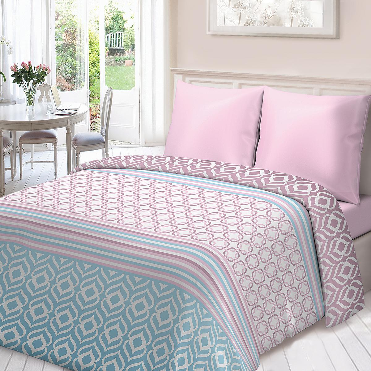 """Комплект белья Для Снов """"Омбре"""", 2-спальный, наволочки 70х70, цвет: розовый"""