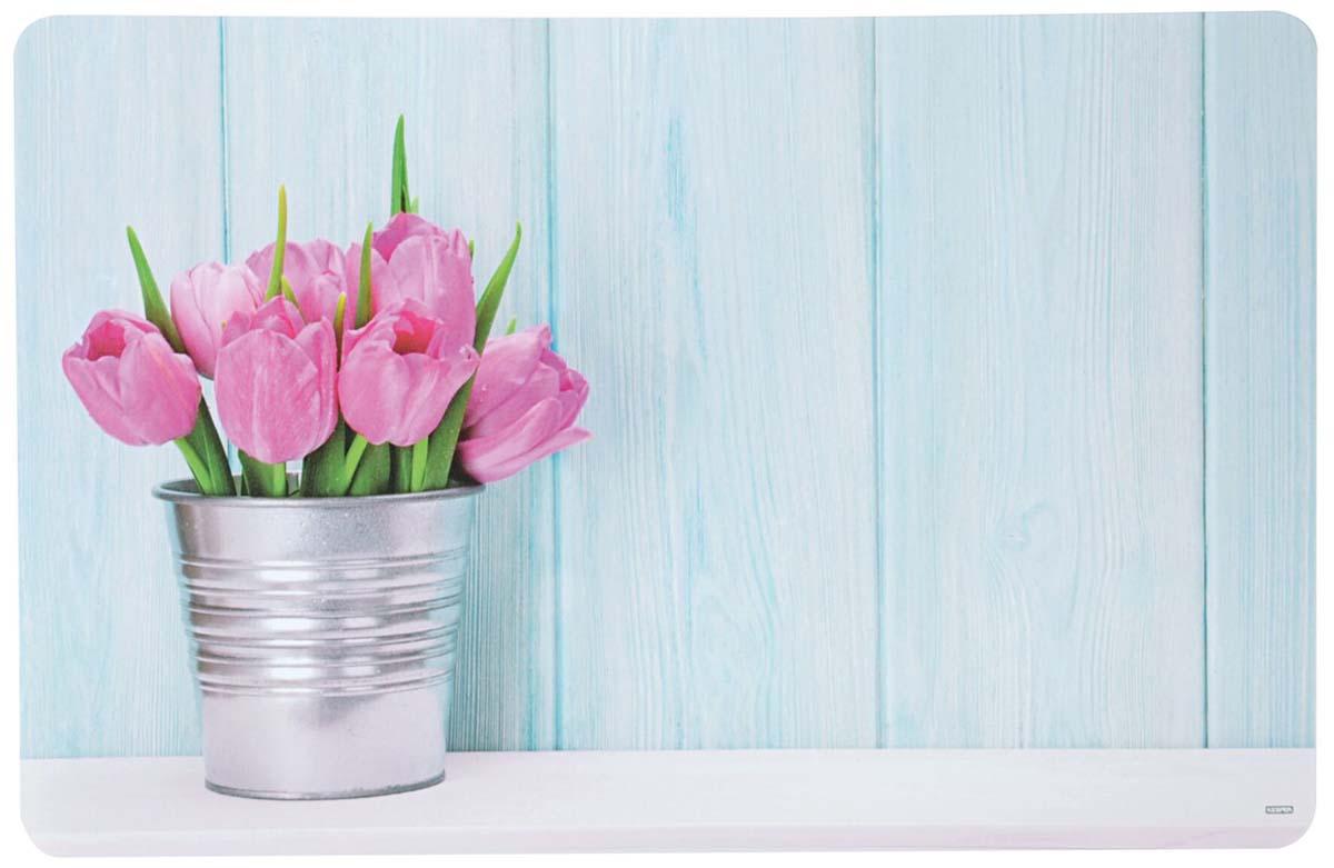 Подставка под горячее Kesper Тюльпаны, цвет: голубой, 43,5 х 28 х 0,07 см7759-2Подставка под горячее Kesper Тюльпаны , выполненная из высококачественного пластика, предназначена для сервировки стола. Она служит защитой от царапин и различных следов, а также используется в качестве подставки под горячее. Оригинальный рисунок дополнит стильную сервировку стола. Рекомендуем!