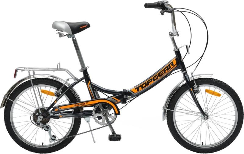 Велосипед детский TopGear Compact 50, цвет: черный. ВНС2083-6s
