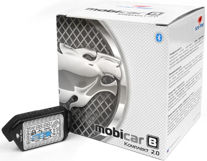 Система охраны автомобиля Scher-Khan Mobicar B, компл. 2.0 автосигнализация scher khan mobicar а v 2 0 модуль автозапуска м1