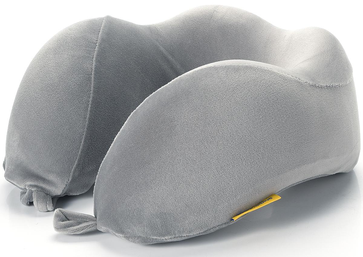 Фото - Подушка для путешествий Travel Blue Tranquility Pillow, с эффектом памяти, цвет: серый, 28 х 27 х 12 см pantheon u pillar pillow travel pillow с капюшоном с капюшоном с капюшоном u образная подушка для шеи car office nap pillow navy со шляпой