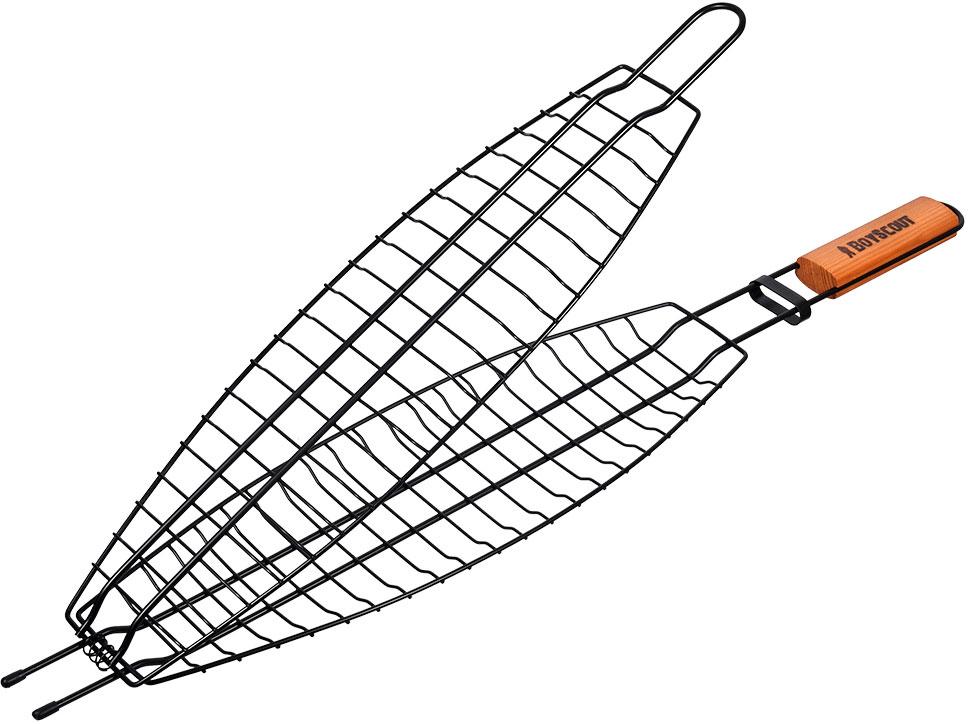 Решетка-гриль Boyscout для рыбы, с антипригарным покрытием, 65 см х 15 см х 3,5 см решетка гриль boyscout звезда 61342