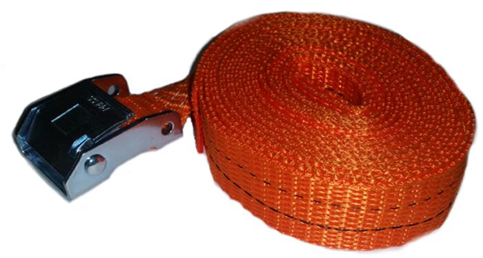 Ремень крепления груза Топ Авто, ширина ленты 25 мм, 250 кг, механизм пряжка с фиксатором 5 м ремень крепления груза топ авто ширина ленты 50 мм 2500 5000 кг 10 м механизм 230 мм