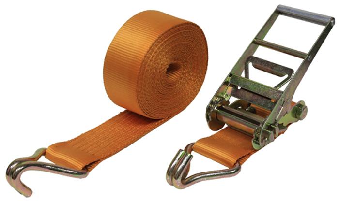 Ремень крепления груза Топ Авто, ширина ленты 75 мм, 10000/20000 кг, 12 м на авто заезд а на ногах