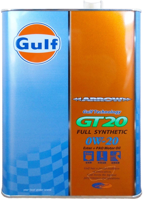 """Масло моторное Gulf """"Arrow GT 20"""", синтетическое, 0W-20, 4 л"""
