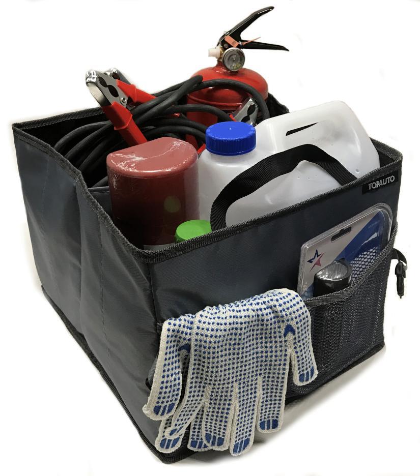 Фото - Сумка-органайзер в багажник Топ Авто, складная, 38 х 31 х 25 см авто