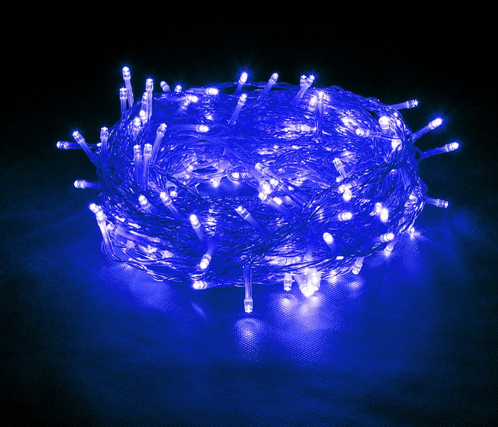 """Гирлянда-конструктор электрическая Vegas """"Нить"""", 48 ламп, длина 5 м, свет: синий. 55002"""