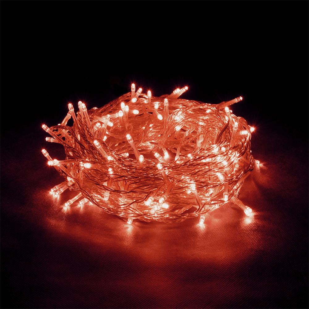 """Гирлянда-конструктор электрическая Vegas """"Бахрома"""", 72 лампы, 18 нитей, свет: красный, длина 3 м"""